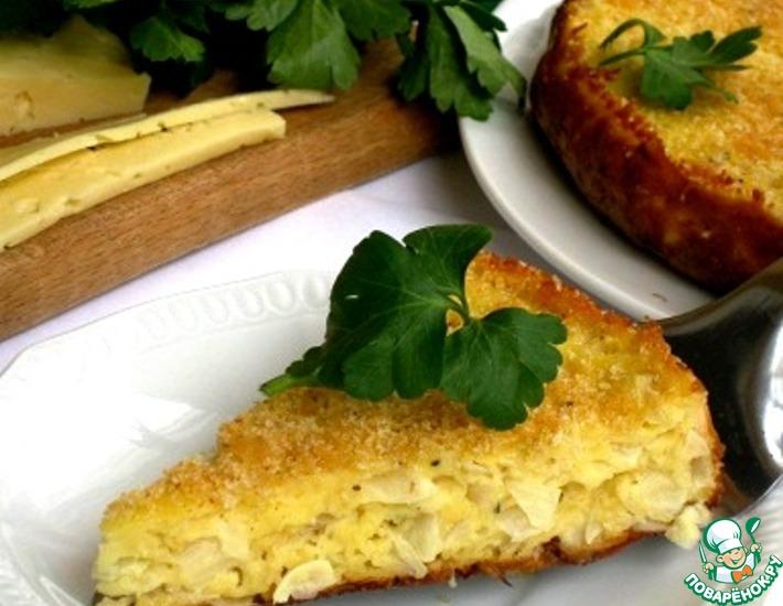 Рецепт: Пирог с полентой и пекинской капустой