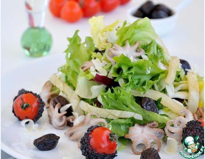 легкий салат рецепты из морепродуктов