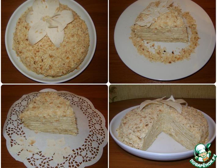 Рецепт: Наполеон на сковороде