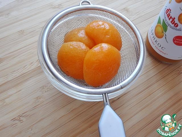 Диетический абрикосовый крамбл с конфитюром