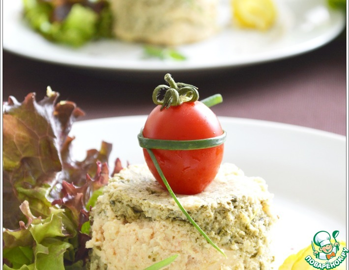 Суфле из семги со шпинатом и творожным сыром – кулинарный рецепт