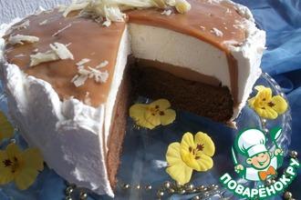 Рецепт: Карамельный торт с ореховой нугой