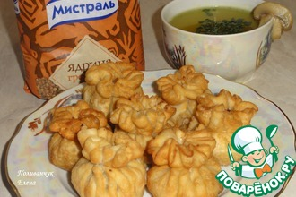 Рецепт: Тюльпины с гречкой и грибами