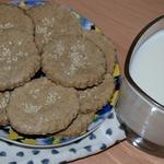 Медовое овсяное печенье