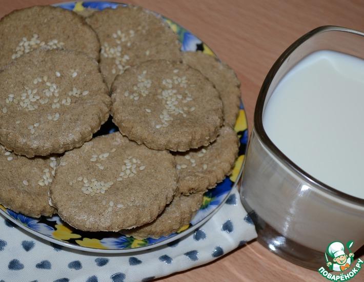 Рецепт: Медовое овсяное печенье