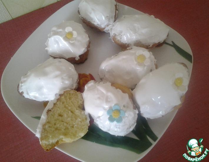 Рецепт: Кексы домашние с лимонной цедрой