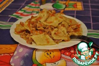Рецепт: Домашняя лапша с курицей Тетушкин рецепт