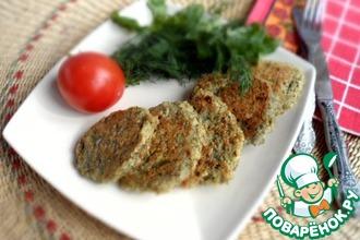 Рецепт: Постные оладьи из чечевицы