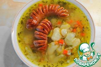 Рецепт: Постный фасолевый суп с фишкой (в мультиварке)