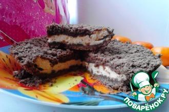 Рецепт: Шоколадная королевская ватрушка с начинкой