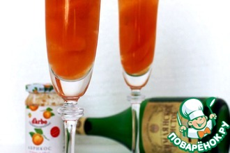 Рецепт: Десерт с шампанским Абрикосовый джаз