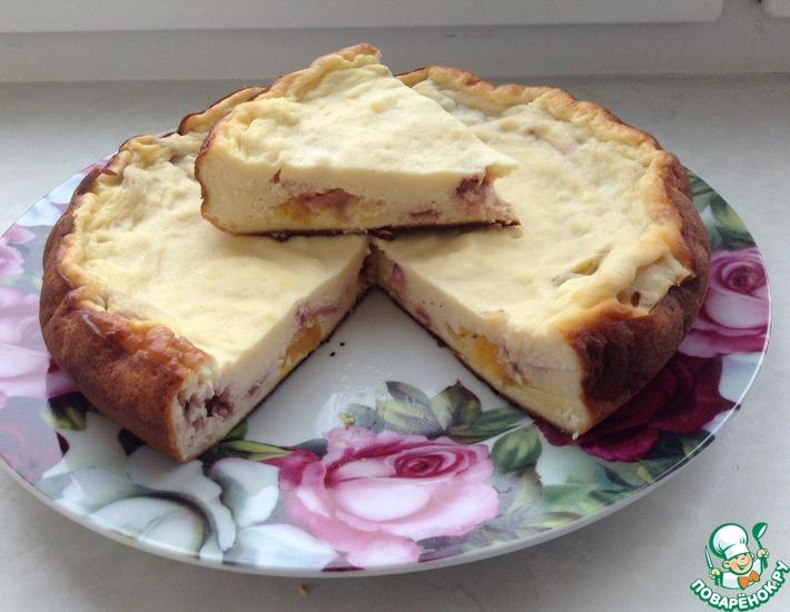 творожный пирог с фруктами в мультиварке рецепт с фото