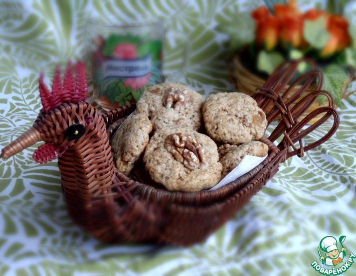 Рецепт: Овсяное печенье с изюмом и чаем ройбос