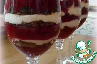 Рецепт: Десерт Клюква ягодка опять!