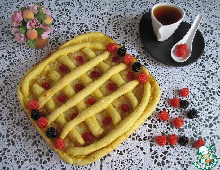 Рецепт: Постный пирог на тыкве с лимонной начинкой