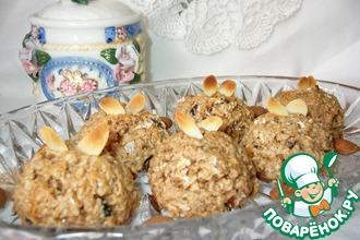 Рецепт: Овсяно-миндальное печенье на кокосовом молоке