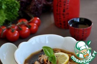 Рецепт: Суп из морепродуктов в восточном стиле