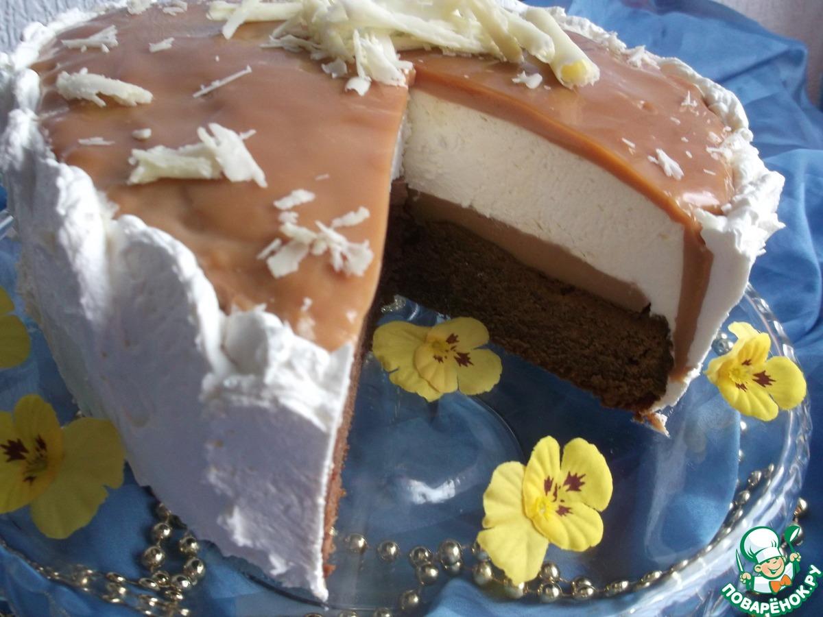 Карамельный торт с ореховой нугой