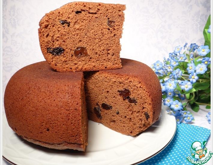 Рецепт: Шоколадный кекс с черносливом