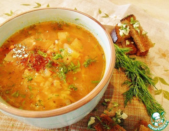 Рецепт: Рассольник из маринованных помидоров