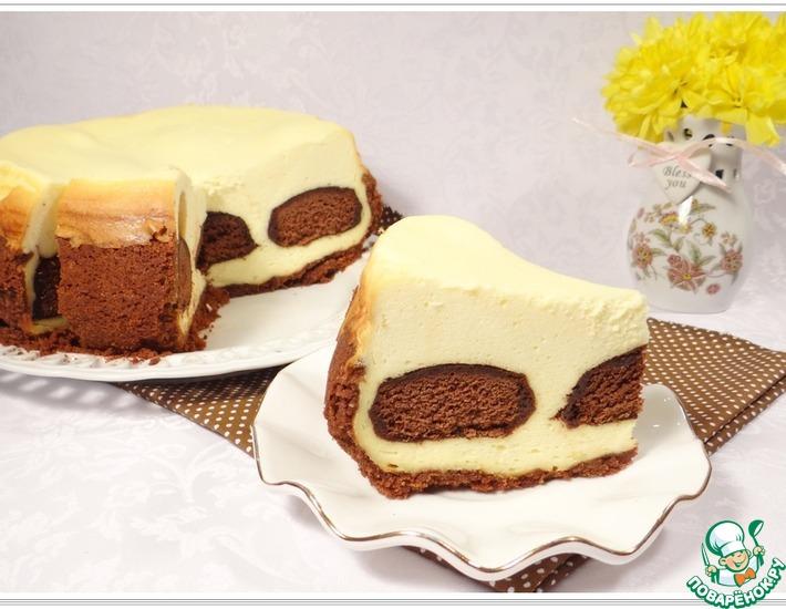 Рецепт: Творожный чизкейк с шоколадными пряниками