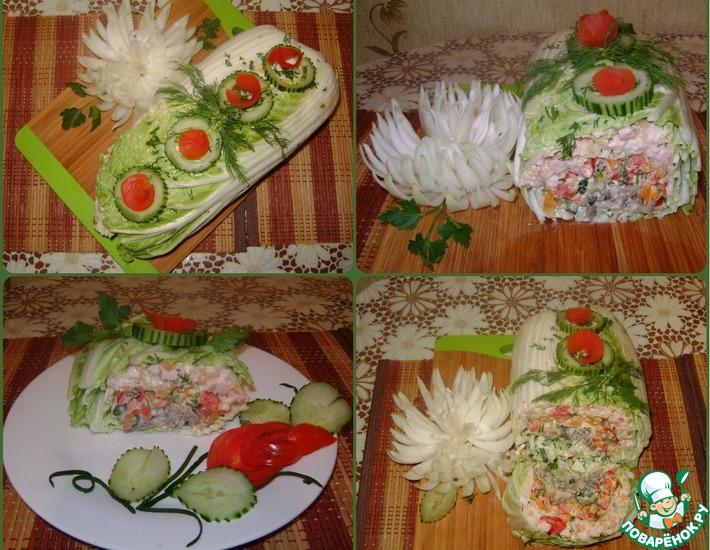 Рецепт: Фаршированная пекинская капуста