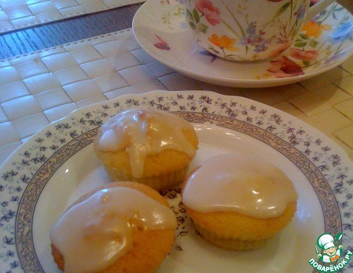 Рецепт: Лимонные капкейки