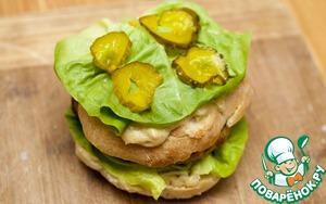 Постный гамбургер с двойной котлетой – кулинарный рецепт