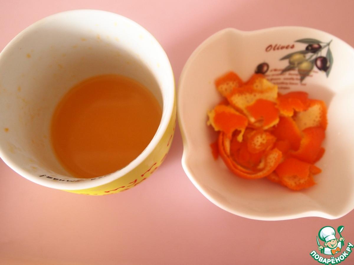 Груши в меренге с вишневым соусом