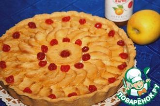 Рецепт: Яблочный пирог с фруктовым джемом
