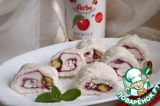 Рецепт: Творожно-вишневые роллы в рисовой бумаге