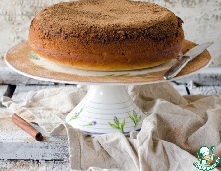 Рецепт: Коричный пирог с хрустящей корочкой