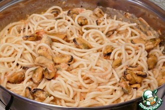Рецепт: Паста с мидиями в сливочном соусе