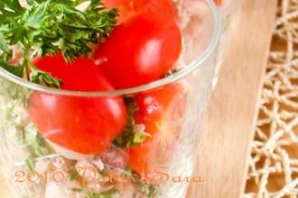 Рецепт: Салат с тунцом, фасолью и помидорами