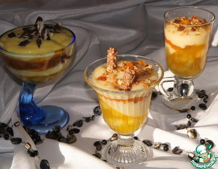 Рецепт: Слоеный десерт с гранолой