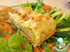 Рецепт: Пирог из лаваша и картофеля