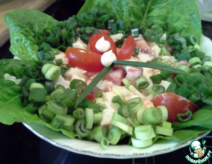 Рецепт: Камчатский краб в двух салатах