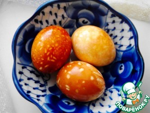 Рецепт Мраморные и пятнистые яйца для пасхального стола