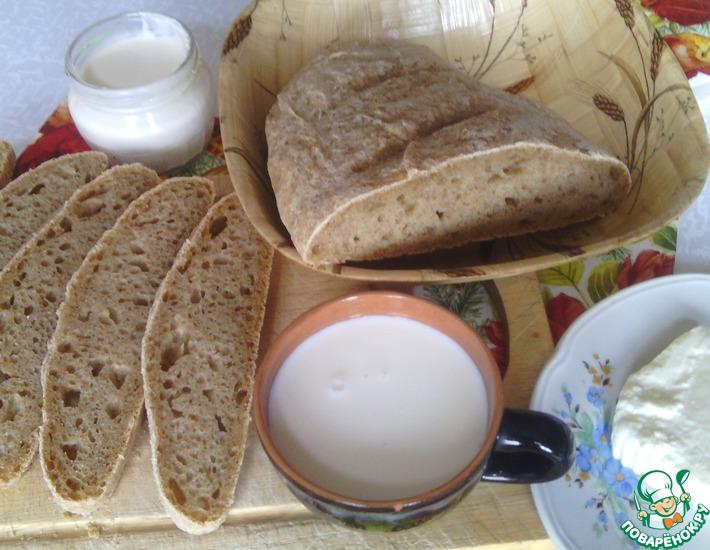 Рецепт: Хлебушек цельнозерновой на закваске