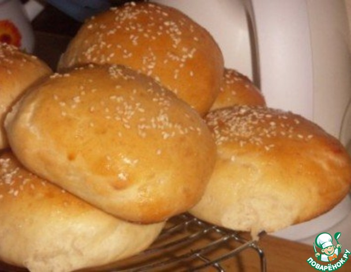 Рецепт: Булочки для бургеров и хот-догов