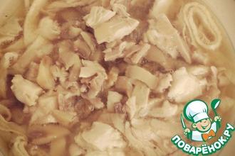 Рецепт: Грибной суп с блинчиками