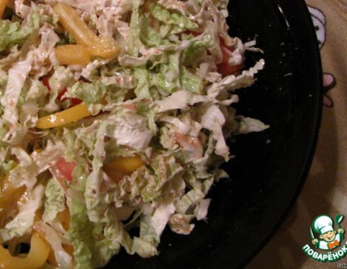 Рецепт: Легкий салат с горчичной заправкой