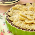 Постный кремовый пирог с бананами