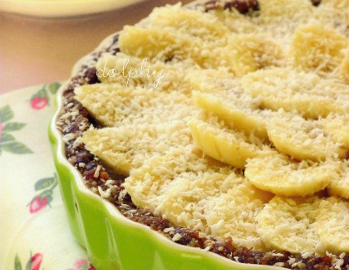 Рецепт: Постный кремовый пирог с бананами