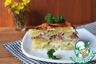 Рецепт: Картофельная запеканка Семейная