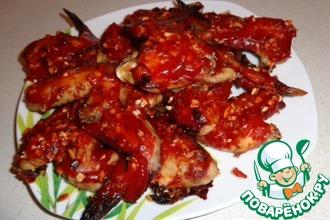 Рецепт: Острые крылышки