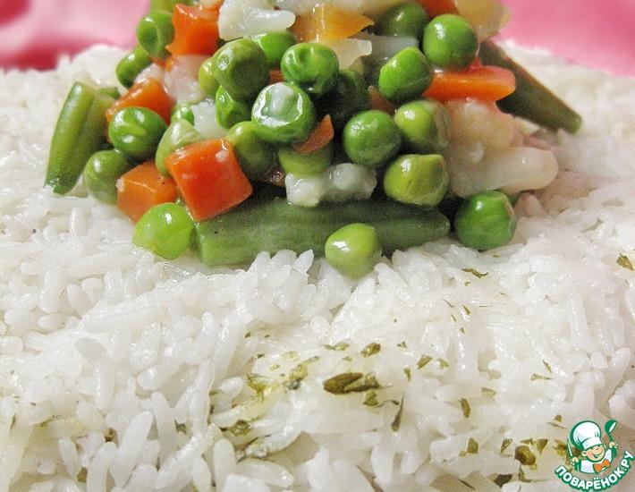 Рецепт: Рисовое кольцо с овощами