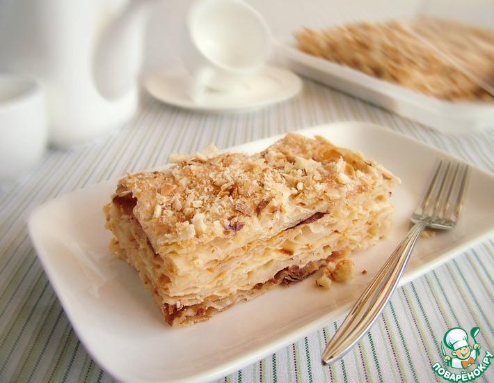 Рецепт: Низкокалорийный абрикосовый торт Наполеон с конфитюром