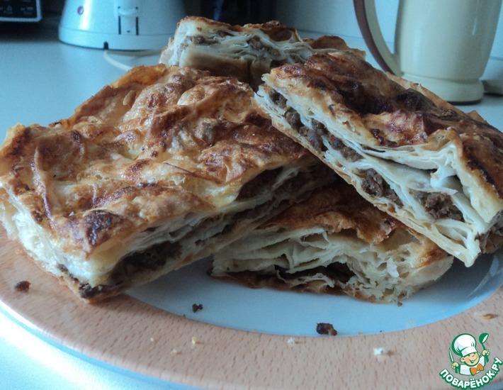 Рецепт: Турецкий пирог-берек с мясом