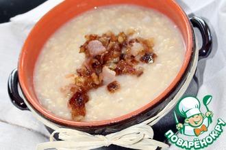 Рецепт: Кислый густой суп с пшеном